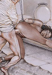 Plantation owner in his private rooms using a slavegirl - Southern comfort by Tim Richards